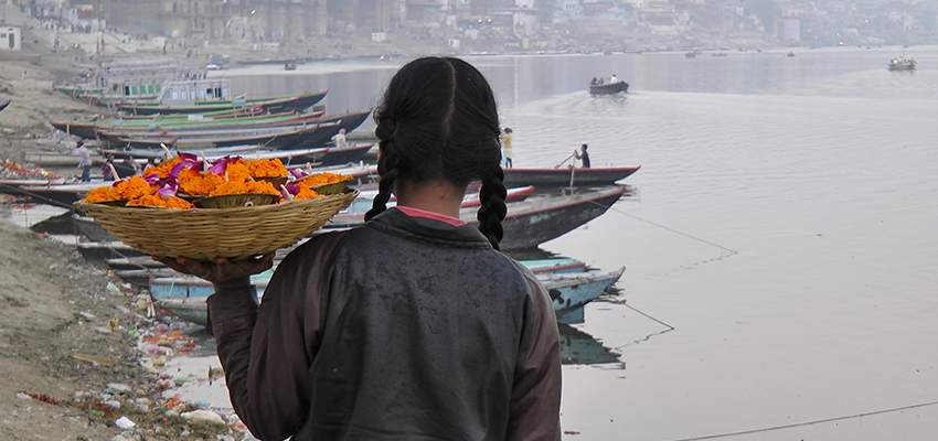 Flower girl on Ganges