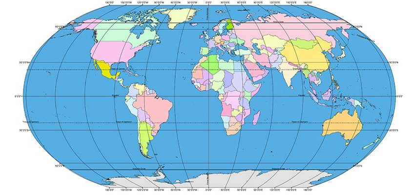 Distance Between Degrees of Latitudes and Longitudes