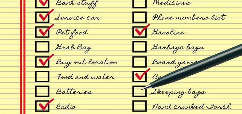 The SHTF Checklist